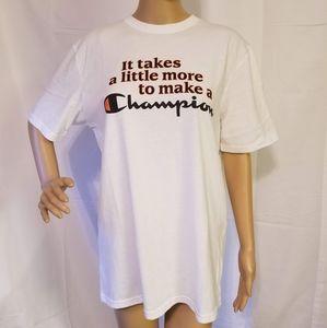 Vintage Champion Brand Womens Large Shirt white